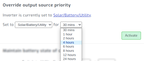 Active time based output source priority in SolarAssistant